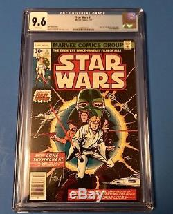 Star Wars comic #1 1977 CGC graded 9.6 WHITE PAGES First Print