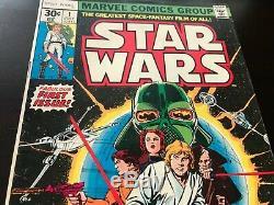 Star Wars comic lot of 28 (1st Print 1977, Marvel) #1 thru #97