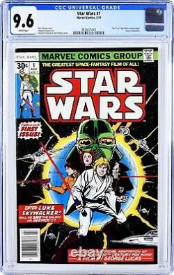 Star wars issue #1 1977 CGC 9.6 white pages/1st printing marvel comics