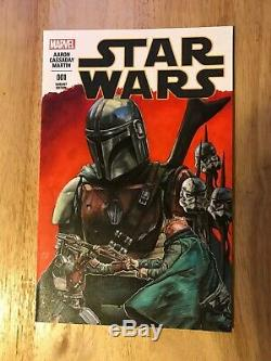The Mandalorian STAR WARS #1 Blank Sketch Cover Variant HENDERSON