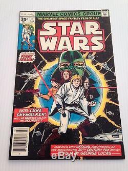 Ultra Rare Star Wars #1 35 Cent Price Variant Cgc Ready! See Pics! Marvel 1977