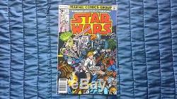 Vintage Star Wars 35 Cent Variant Marvel Comics #2 Issue HTF Retro Sci-Fi 1977